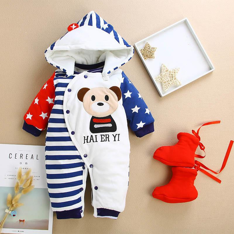 9dfb5680864a 2019 Good Quality Winter Baby Rompers Infant Girls Thicken Rompers ...