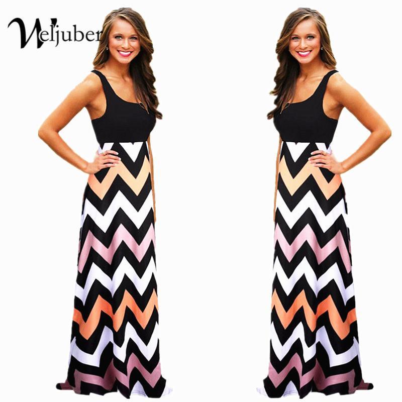 de5eda3e99 2019 Women Summer Maxi Dress 2018 High Quality Striped Print Long Boho  Dresses Feminine Plus Size Vestido De Festa Y19012201 From Jinmei02, $16.25    DHgate.