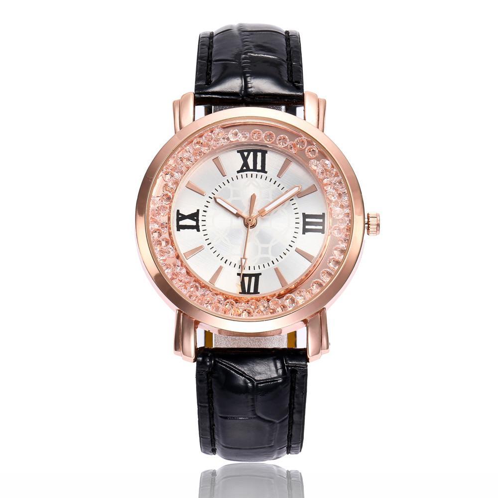 0d8b2ef22 Compre Banda De Cuero De Moda Para Mujer Cuarzo Analógico Reloj De Pulsera  Redondo Relojes Reloj Deportivo Hombre Reloj De Lujo A $34.2 Del Ericgordon  ...