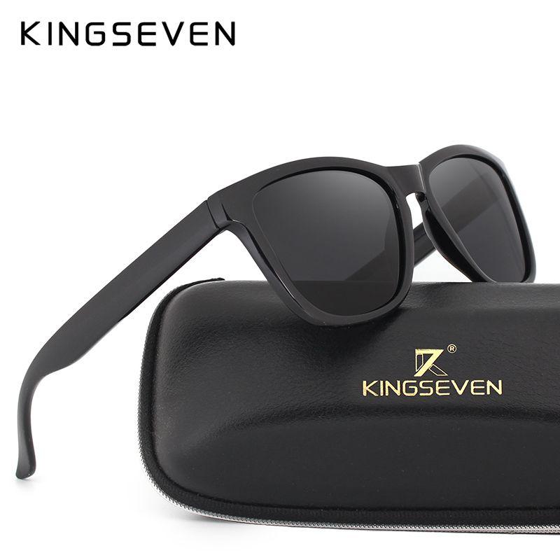 Compre KINGSEVEN Retro Real Polarized Óculos De Sol Das Mulheres Dos Homens  Da Marca Designer De Óculos De Sol Dos Homens Óculos De Sol Oculos De Sol  ... 022d6d1d17