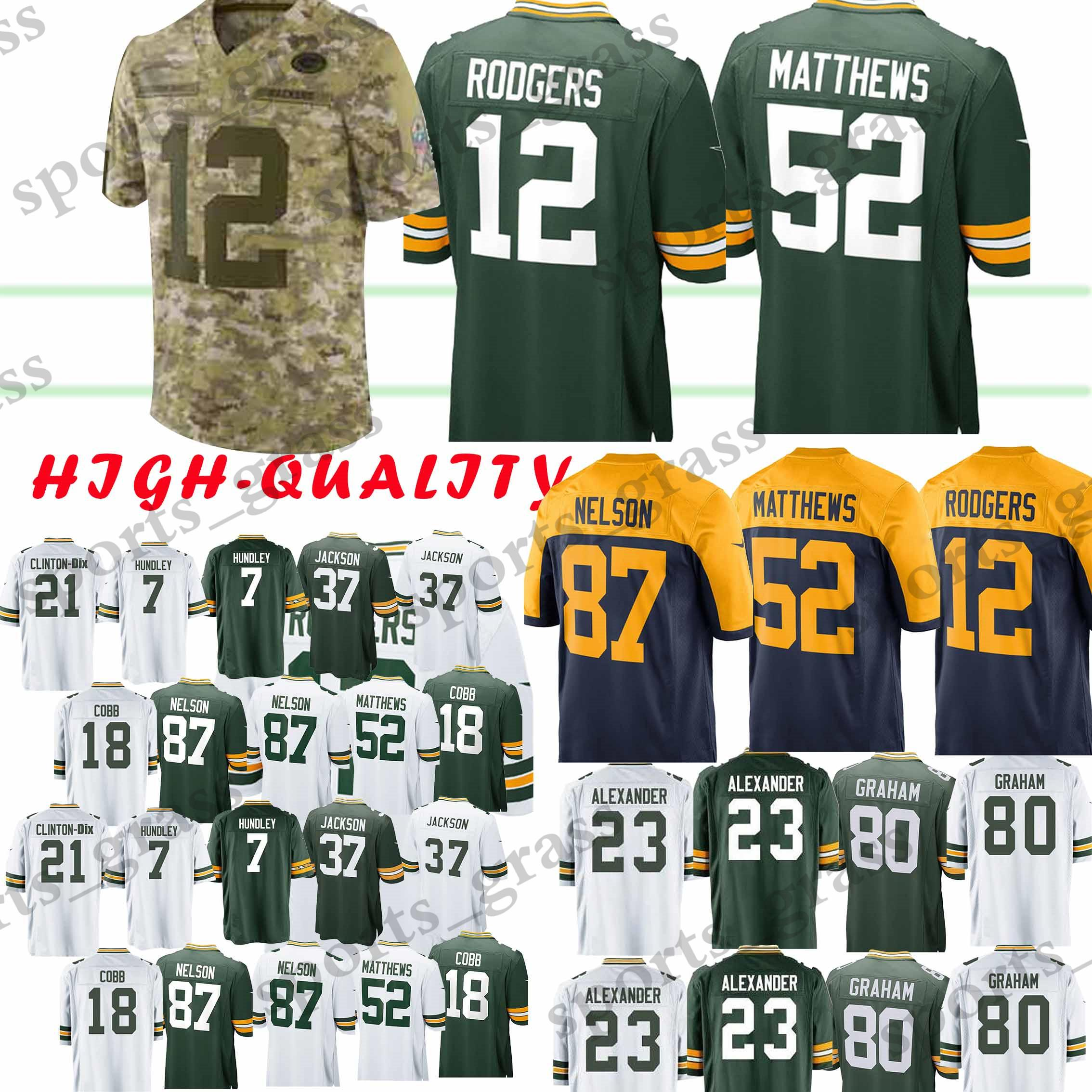 Compre 12 Aaron Rodgers Green Bays 52 Clay Matthews Packer 23 Jaire  Alexander 17 Davante Adams 80 Camiseta Jimmy Graham Juvenil Adulto Caliente  A  22.5 Del ... 6e9069264