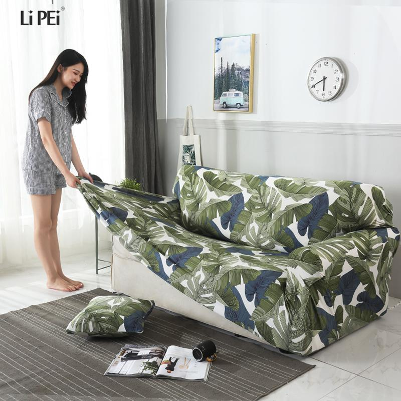 Modern Sofa Cover All-inclusive Slip-resistant Cheap Sofa Towel Elastic  Corner Sectional Covers Spandex Slipcover 1PC