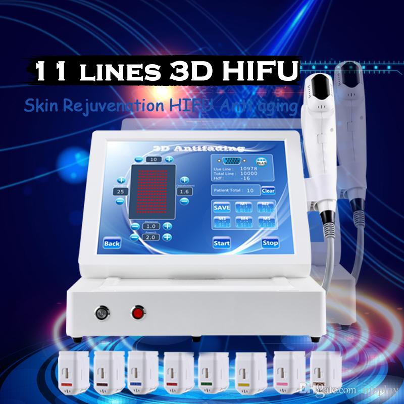 3D hifu body and face portable hifu wrinkle removal skin tightening machine ultrasound machine 3D hifu 11 lines