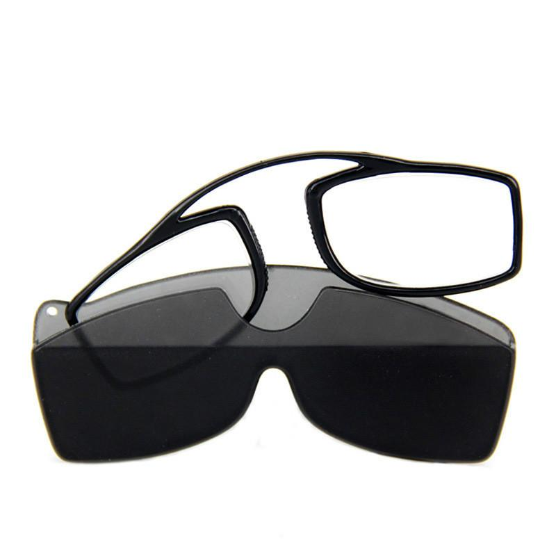 de96f414293 TR90 Pince Nez Style Nose Resting Pinching Portable Pince Nez Reading  Glasses No Arm Old Men Women Glass Reading Glasses Half Lens Reading Glasses  From ...