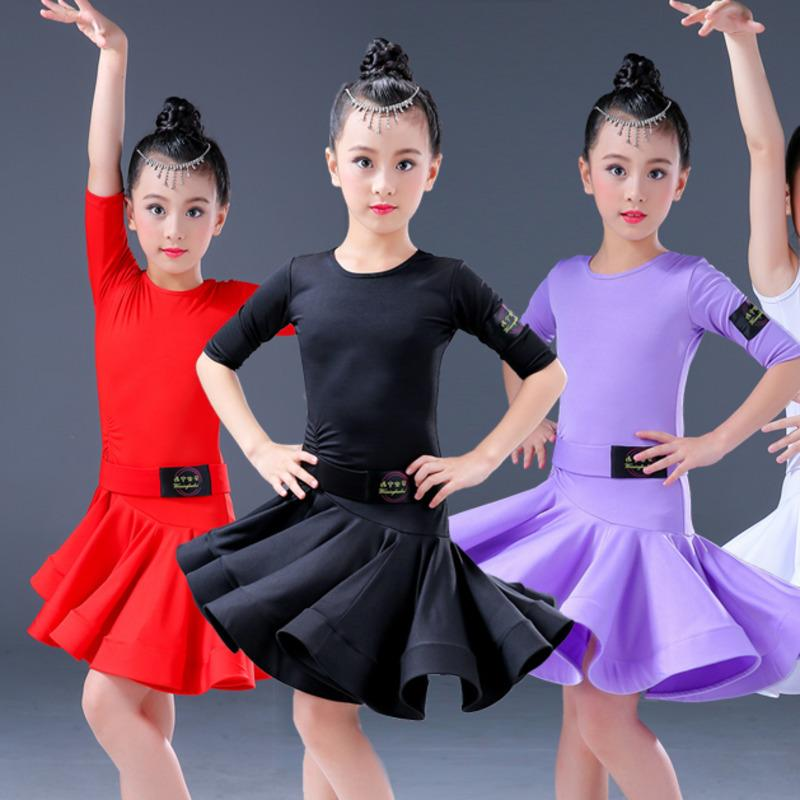 d7b486964009e 2019 Modern Girl Latin Dance Dress For Children Girls Samba Competition Ballroom  Kids Tango Salsa Dancewear Practice Wear Cha Cha From Xinpiao, ...