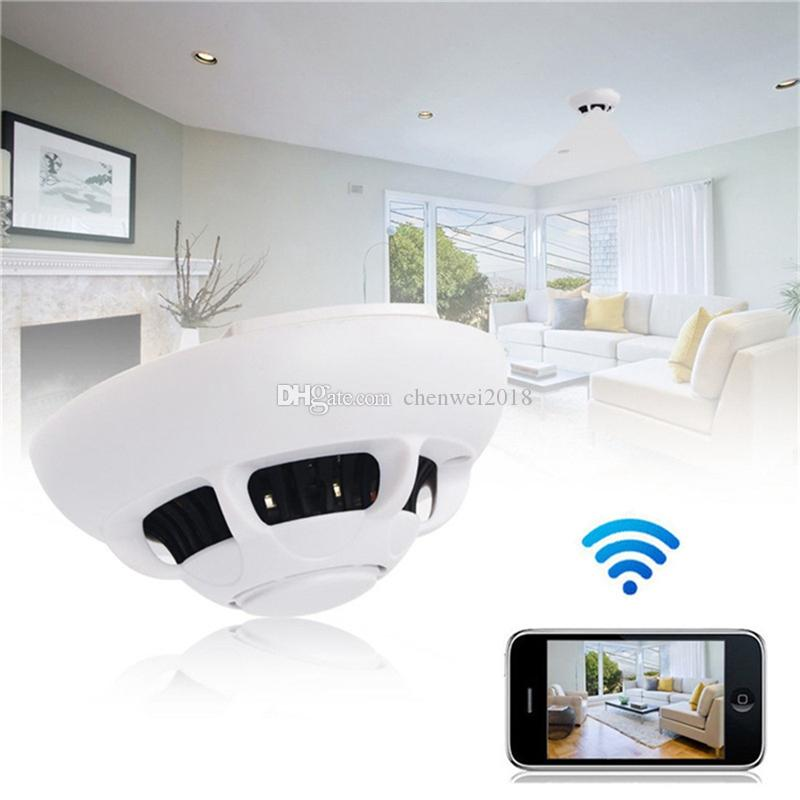 Wireless wifi P2P IP Camera Smoke Detector Network Camera Digital Video Recorder Indoor DV Security Camcorder for Home Kids Remote View