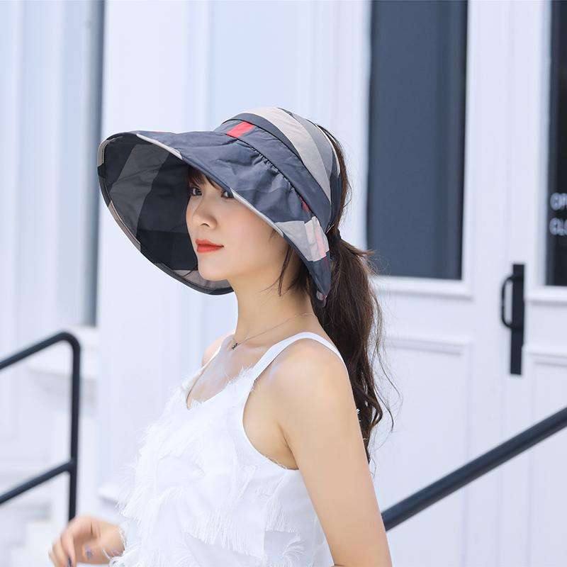 2019 Summer Sun Hats For Women Ponytail Beach Hat Casual Wide Brim Foldable  Outdoor Anti UV Fishing Caps Adjustable Fedora Hats For Women Hat Shop From  ... 1b5800195a8