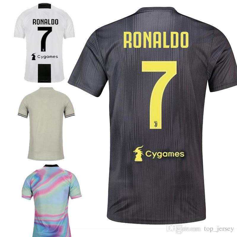 b89eb866e 2019 New Player Version Ronaldo Juventus Home Away Third EA Sports Soccer  Jersey 18 19 Dybala MANDZUKIC MARCHISIO Adult Kids Football Shirt 2019 From  ...