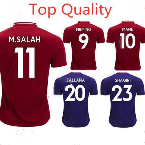 18 19 Thailand Mohamed Salah Soccer Jersey 2019 Home Camiseta De ... 8c6976ba9