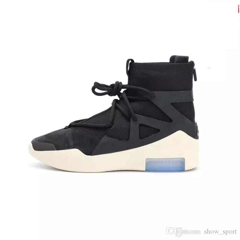 e6b3373be23 2018 New Release Air Fear Of God 1 Man Shoes FOG Boots Light Bone Black  Sail Basketball Shoes Man Sports Zoom Sneakers AR4237 002 Biker Boots Boots  For Men ...