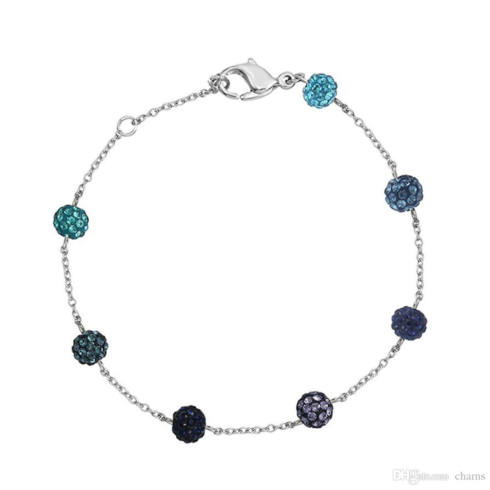 71efab7244af7 Swarovski bubble ball crystal lucky bracelet bracelet fashion simple  Valentine's day female birthday gift blue 1106432