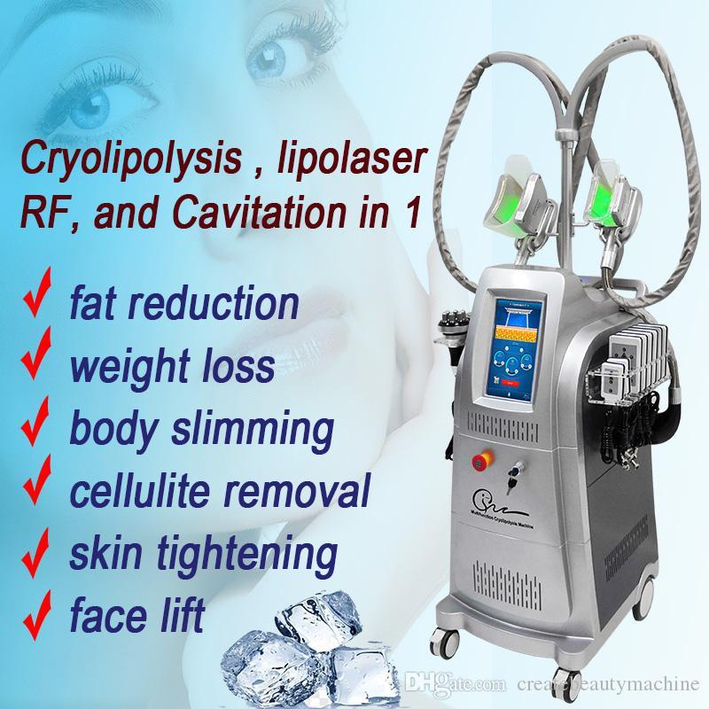 fat freezing liposuction machine cryo lipolysisvacuum RF roller radio  frequency cavitation rf firming skin free shipping