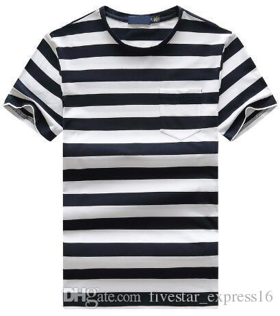 44760517 Online Fashion Men Striped Polo T-Shirts America Style Boys Casual T ...