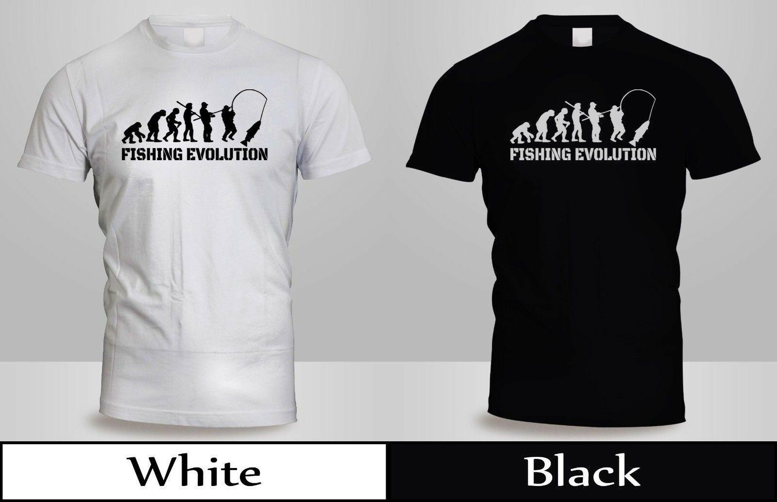 8d54625944e8b8 Großhandel Neue DW FISHING EVOLUTION T SHIRT Herren BlackWhite Fisch Gang Lustiges  Shirt 3free Versand Unisex Casual T Shirt Von Fightershop