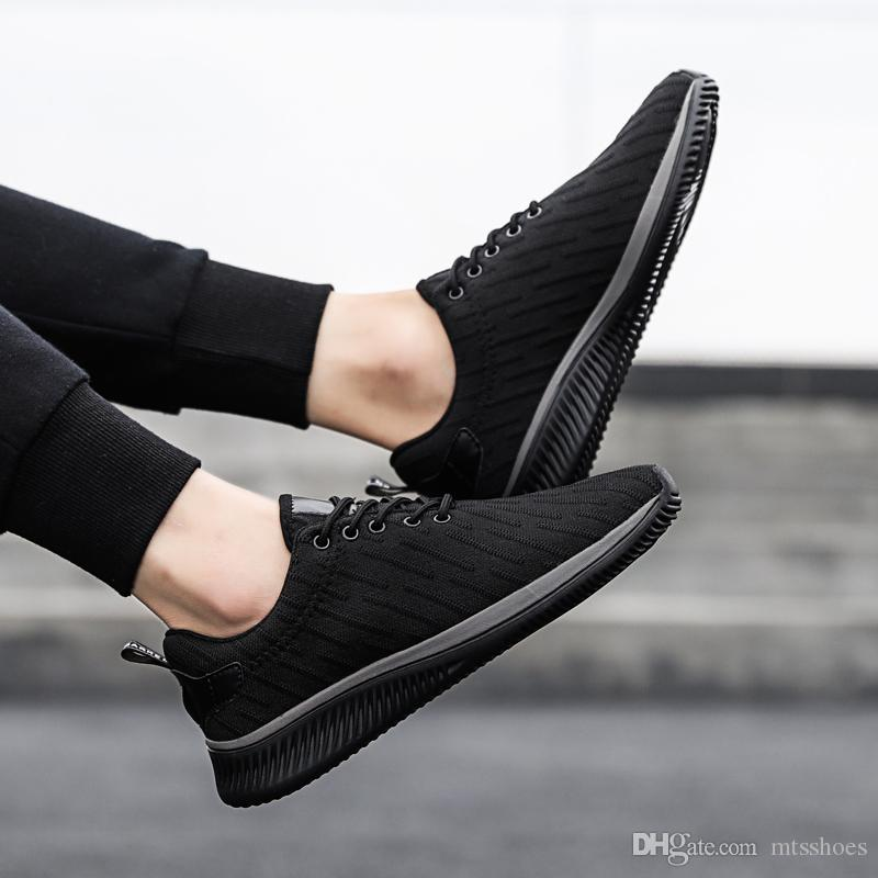 e46afeef2537e Men Spring Fall Outdoor Lace Up Casual Shoes Mens Breathable Non Slip  Walking Shoes Male Barefoot Soft Flat Dress Shoes For Men Suede Shoes From  Mtsshoes
