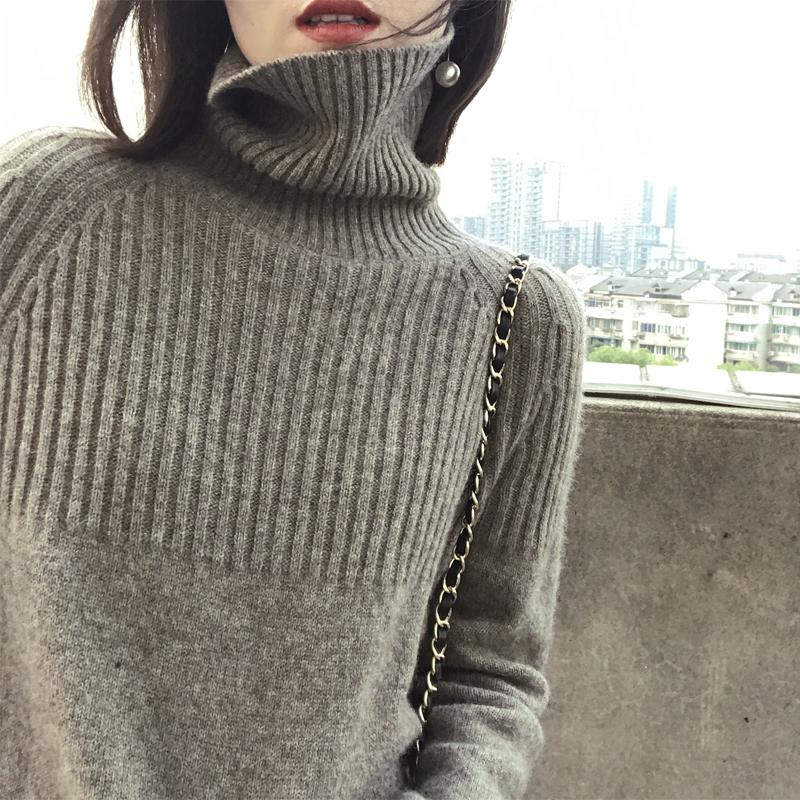 1168c87ea5a 2018 New Women Sweaters Fashion Female Turtleneck Cashmere Sweater ...