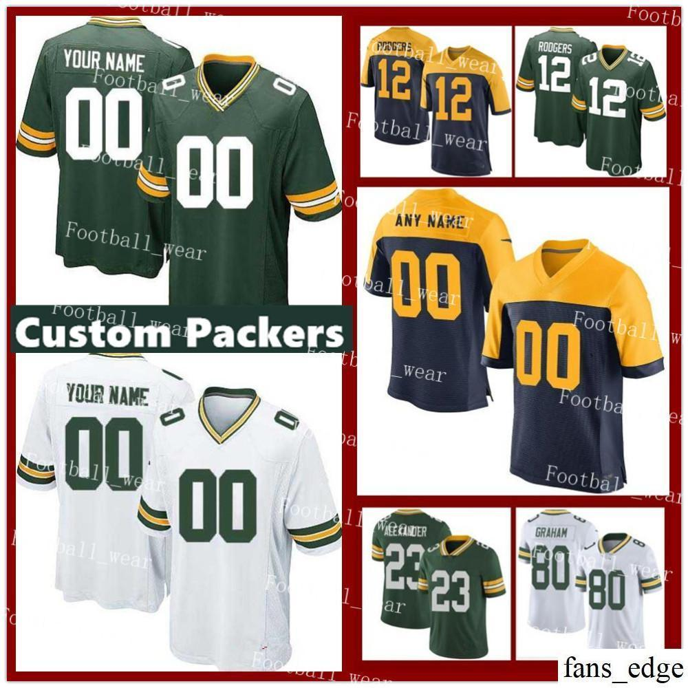 new style 134df 3db25 Mens Women Youth Custom Green Bay Jersey Geronimo Allison 92 Reggie White  18 Randall Cobb 19 quanimeous St. Brown Packers 88 Ty Montgomery