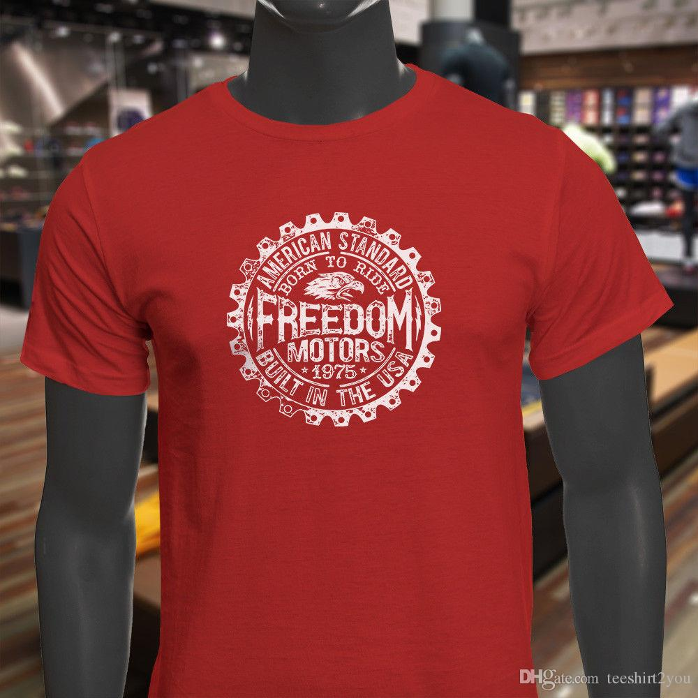 94670a61a2 American Standard Freedom Motors Eagle Usa Built Mens Red T Shirt T Shirt  Men Male Street Short Sleeve Fashion Custom Plus Size Family T Shi Coolest  T ...
