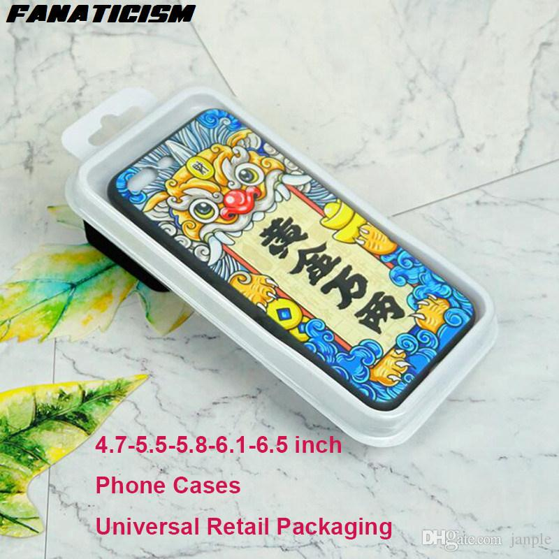Fanaticism Phone Cover Universal Blister Retail Packaging Package Box For iPhone XR XS Max 6 7 8 Samusng S10e S10 S9 S8 Plus