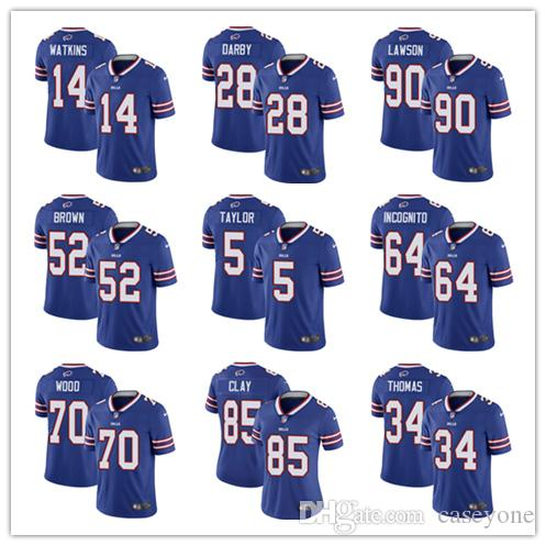 2019 Buffalo Jersey Bills 17 Josh Allen 27 Tre Davious White 49 Tremaine  Edmunds 95 Kyle Williams 25 LeSean McCoy 34 Thurman Thomas Jersey From  Taishan01 f506122a4