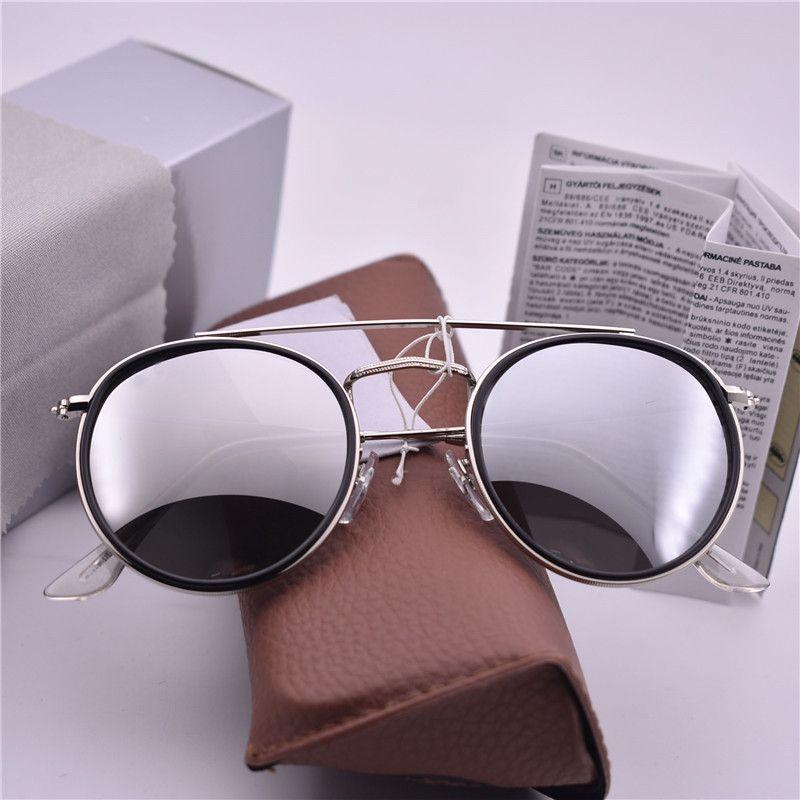 c599c261982c Luxury Brand Steampunk Sunglasses Women Men Round Sunglass Coating ...