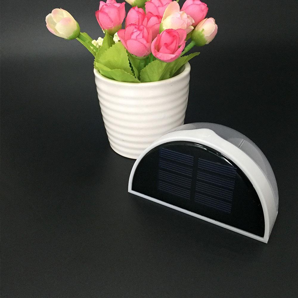 Solar Weiss Arbeitszeit 10 Stunden Aussenleuchte Wandleuchte Dekorativer Zaun Licht Halbkreis Wasserdichte Veranda