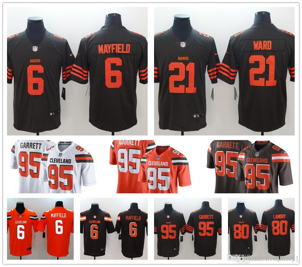 711701370 2018 2019  6 Baker Mayfield American Football Cleveland Browns Jersey  Jarvis Landry Men Women Youth Peppers Myles Garrett Denzel Ward Jerseys  From Volition1 ...