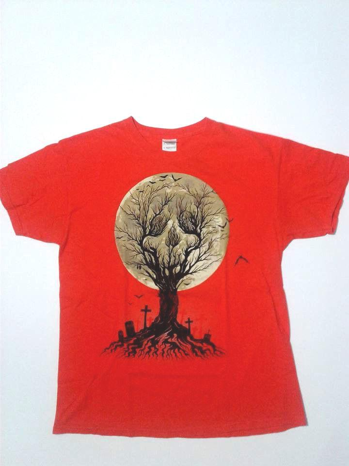 3d229248a Men Graphic T Shirt Tee Large Orange Halloween Haunted Graveyard Spooky  Shirts Designer Designer White T Shirts From Besttshirts201805, $10.66|  DHgate.Com