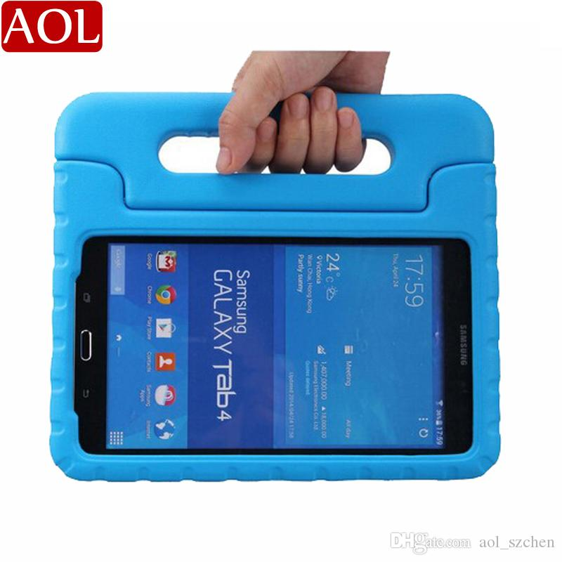 new arrival df776 b2d3c Foam Case Kids Safe Rugged Proof Thick Handle Stand case For Samsung Galaxy  Tab 4 10.1 8.0 7.0 EVA cover