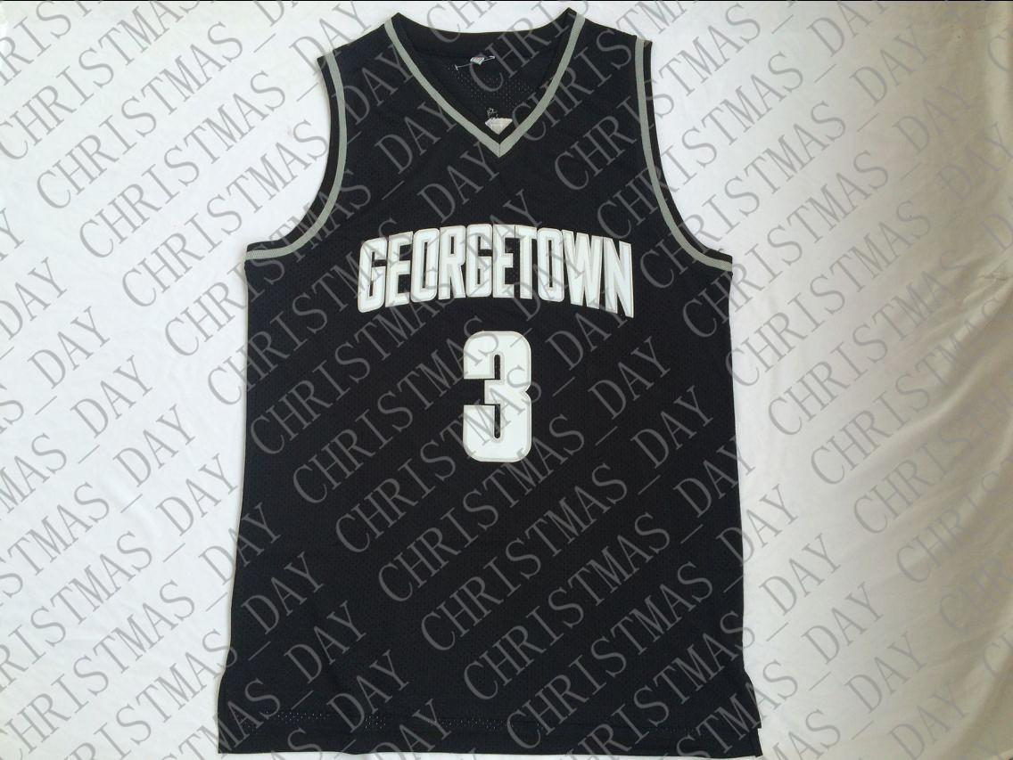 online store b3d8e f2240 Cheap custom Allen Iverson #3 Georgetown Hoyas Black College Jersey  Stitched Men Stitched Customize any name number MEN WOMEN YOUTH JERSEY