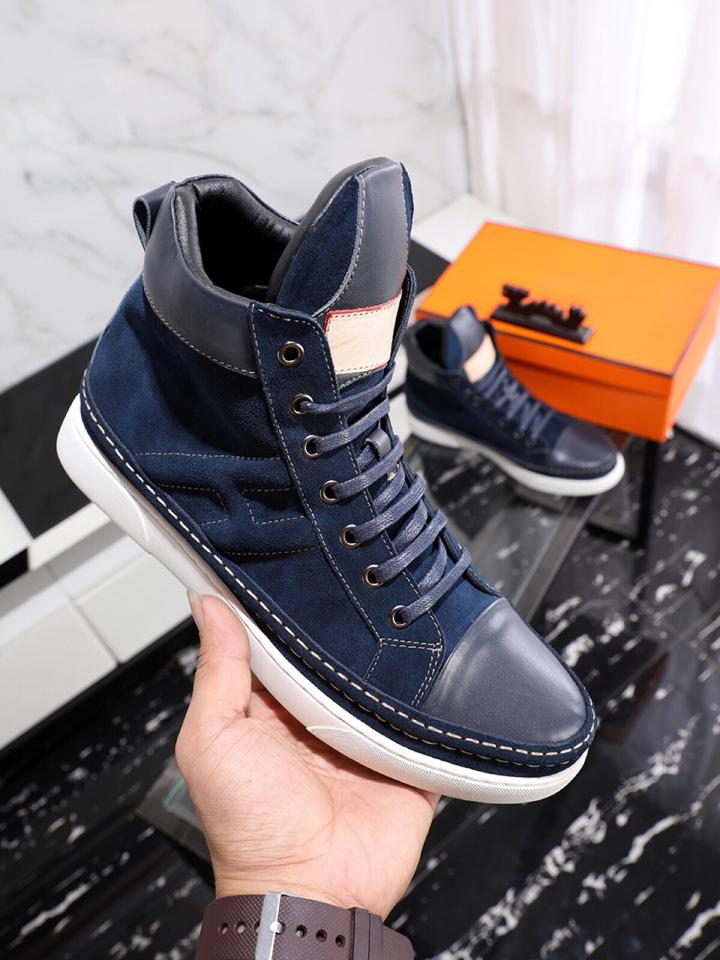 f6f33fe38b38b Designer Shoes For Men Casual Boots Autumn And Winter Casual Shoes Boots  Fashion Luxury Designer Mens Shoes Black And Blue Hiking Shoes Prom Shoes  From ...