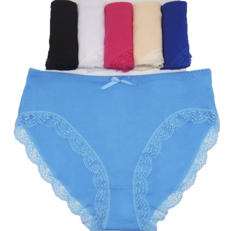 153e9d940a9 2XL 3XL 4XL 4pcs women s cotton briefs sexy mid-rise solid lace patchwork  panties Ladies briefs big size women underwear