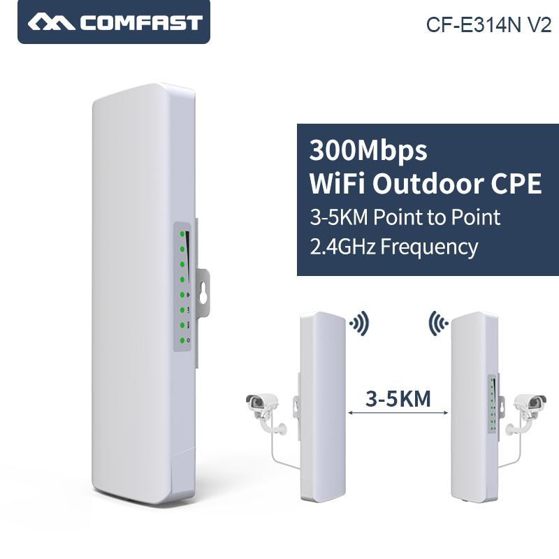 COMFAST 300Mbps 2 4Ghz Outdoor Mini Wireless Bridge WIFI CPE Access Point  WIFI Dual 2*14dBi WI-FI Antenna Nanostation