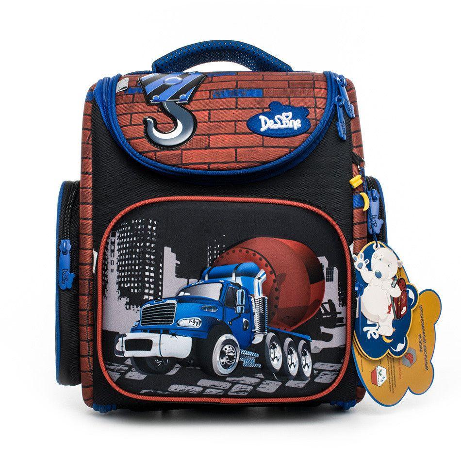 Delune Brand Kids 3d Cars Tank School Backpack For Boys Girls Grade 1 3  Children Primary Orthopedic School Bags Mochila Infantil Backpacks For Girls  ... c437eb6e5e431