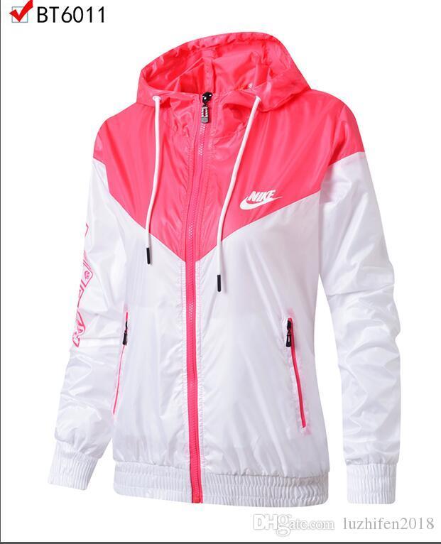906479b08 New Ladies Sports Windbreaker Jacket High Quality Coat Coat NIKE Ladies  Sports Windbreaker Brand Designer Jacket Lovers Women'S Free Track Jackets  Jackets ...