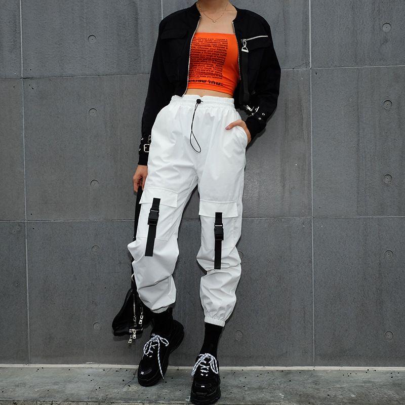 2e8d5d6a5e1 2019 Patchwork Long Harem Pants Women Sweatpants High Waist Side Striped  Black Trousers Woven Elastic Waist Fitness Workout UK 2019 From Yogostore