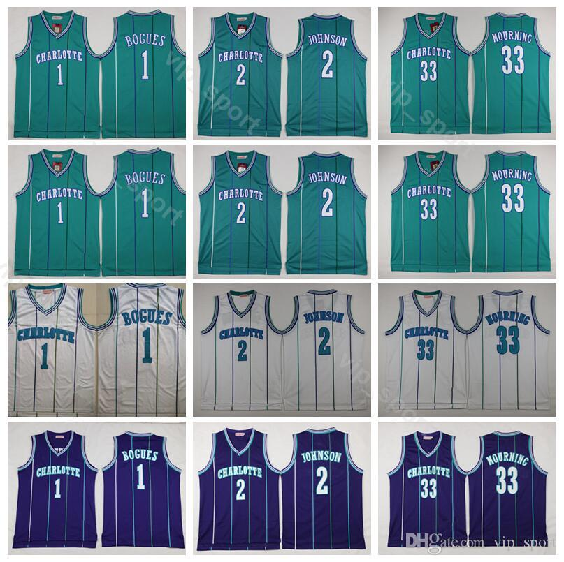 56aac7ae3 2019 Charlotte Basketball Hornets Tyrone Muggsy Bogues Jersey 1 Men ...