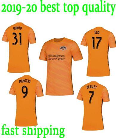 pretty nice d6edc 60b57 top quality Houston Dynamo 19 20 soccer Jersey Home Orange 31 QUIOTO 17  ELIS 10 MARTINEZ 9 MANOTAS 7 BEASLEY 2019 2020 Football uniform