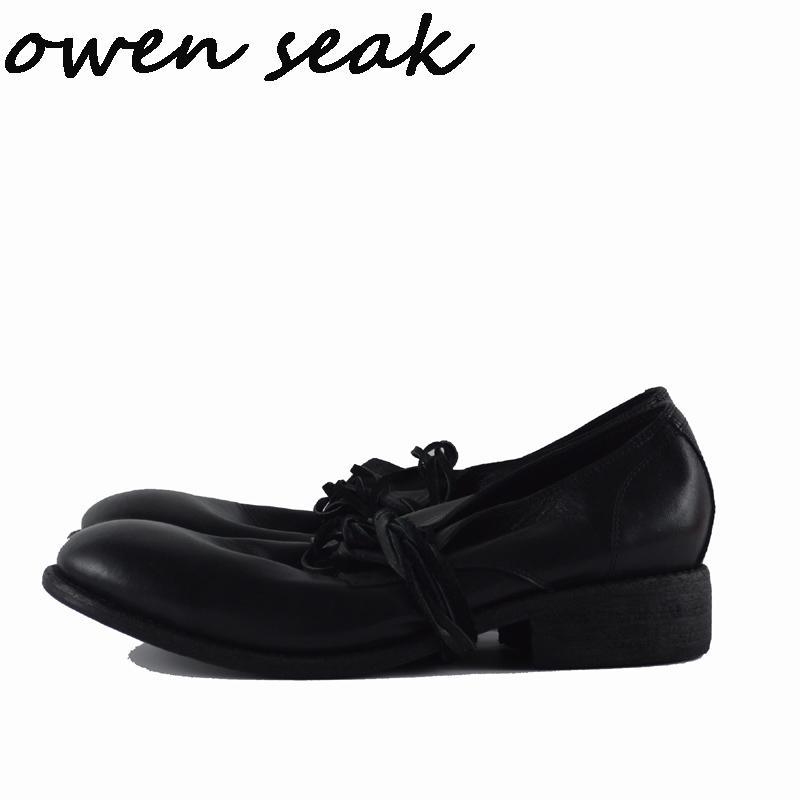 Cuir À Vache Baskets Chaussures Habillées Mariage Hommes Casual Noir Luxe Lacets Rétro De En Owen Pour Seak Printemps DHIYW2E9