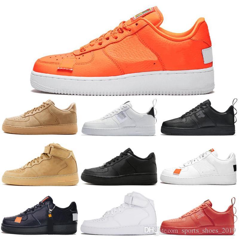 prix compétitif 3c389 b8697 Nike Air Force 1 Forces Shoes Dunk One 1 Hommes Femmes Chaussures de course  Blanc Noir Blé Orange Rouge Homme Baskets Femme Designer Dunk 1 Chaussures  ...