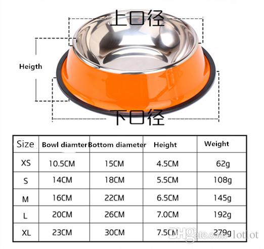 Stainless steel dog bowl sport travel Pet dog cat food feeder bowl Drinking Water Fountain pet bowl feeding tool cartoon style