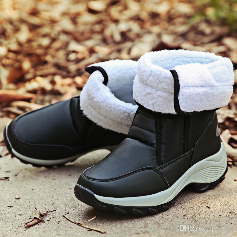 Gnome High Top inverno caldo pelliccia stivali da neve scarpe da donna fondo spesso impermeabile donne comode stivali Hook Loop scarpe da donna