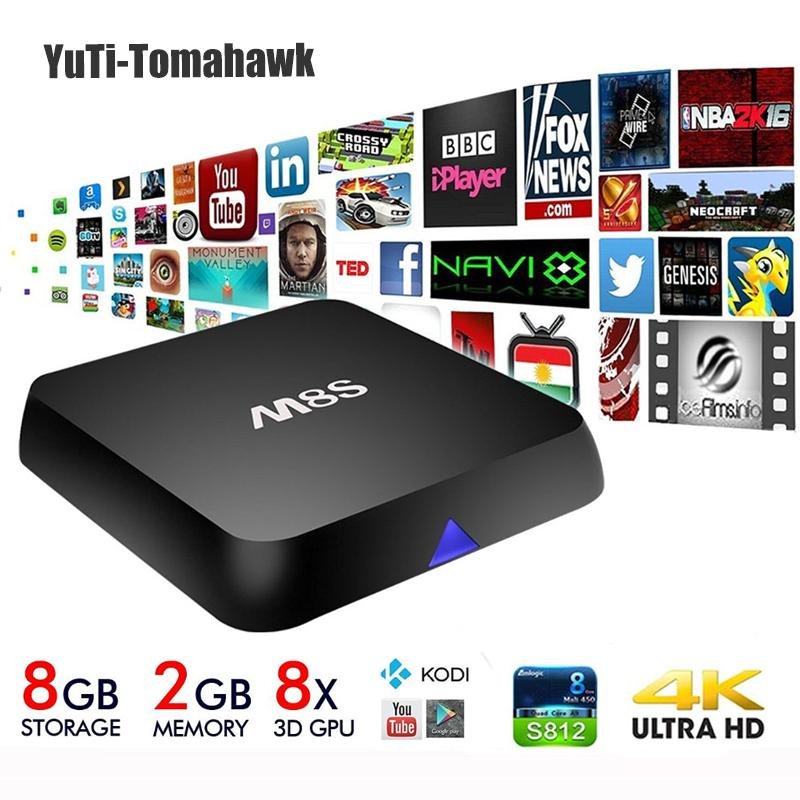 Amlogic Android TV Box MiNi PC M8S Quad Core 2G/8G Add-ons Pre-installed 4K 2.4G&5G WiFi Full HD Smart TV Media Player