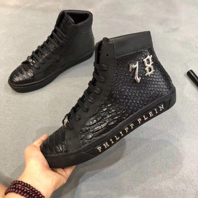 taglia 40 f76e9 35260 Philipp plein PP 19 Hot Arrive White Sneaker Mens Shoes Top Stars Luxury  Layer Leather of Rivet Skulls sneakers Casual Men Shoes EUR38-45