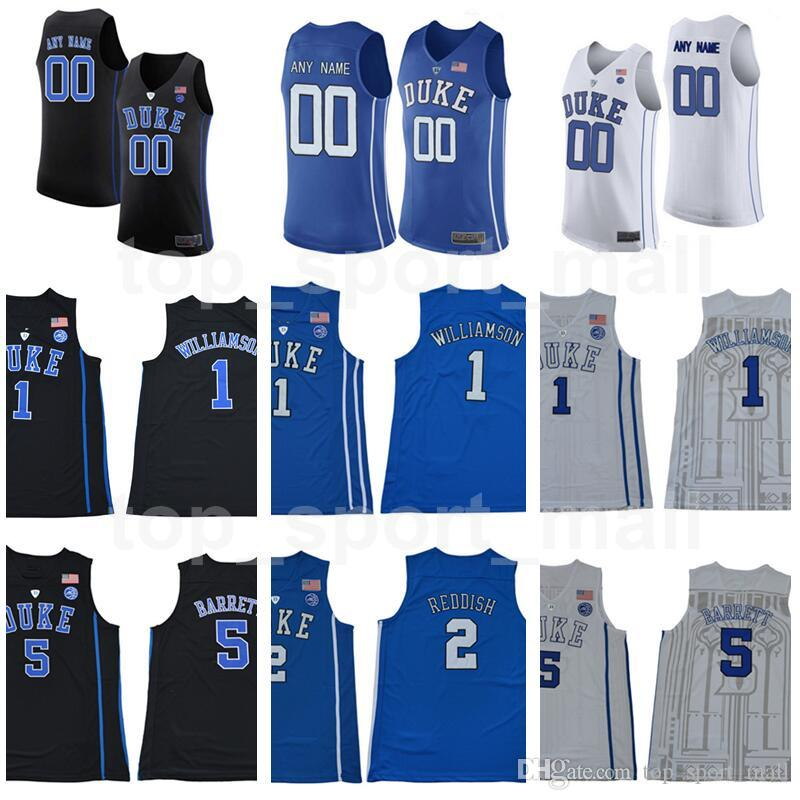 2019 Custom College Jerseys Man Kids Women Duke Blue Devils Zion Williamson  Cam Reddish RJ Barrett Mike Krzyzewski Tre Jones Bolden Youth XS XXXL From  ... df13e1946