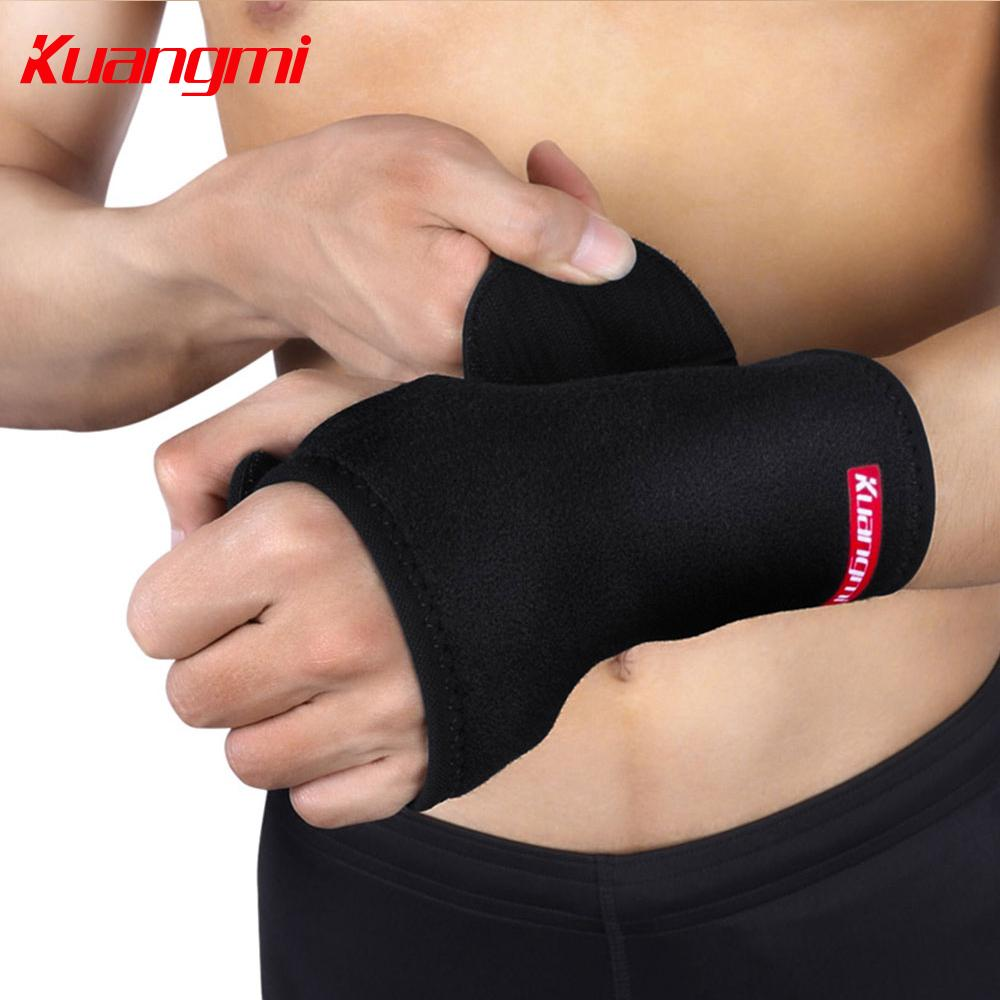 Kuangmi 1 PC wrist wraps Removable Steel Wrist Splint Brace band Hand Support Protector Injured Rehabilitation wristband