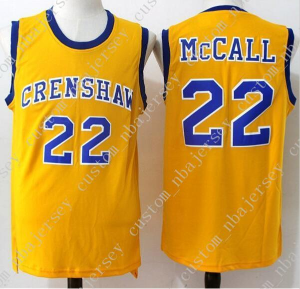 f7f7a868c6ad 2019 Custom CRENSHAW McCALL Film Basketball Jersey Retro Yellow Movie Jersey  Stitched Customize Any Name Number MEN WOMEN YOUTH JERSEY XS 5XL From ...