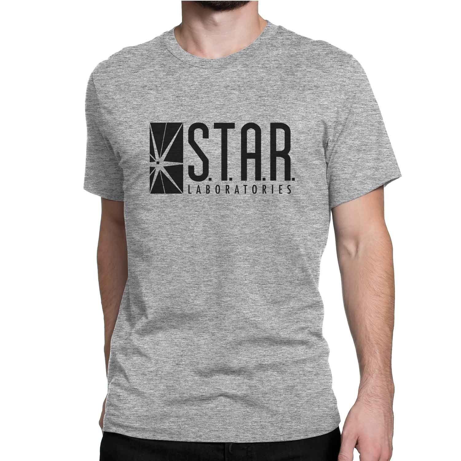 fe324ec9021 STAR Labs T Shirt Flash Dr Wells Cisco Barry Allen Fan Shirts Halloween  Costume Funny Unisex Casual Tee Gift Awesome T Shirts Online A T Shirts  From ...