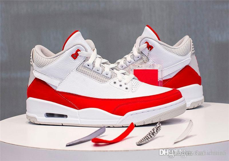bdffba197440a6 2019 2019 New Release Originals Air JTH 3 Tinker CJ0939 100 White Red  University Katrina Men Basketball Shoes 3S Authentic Sports Sneakers From  Fashiontina