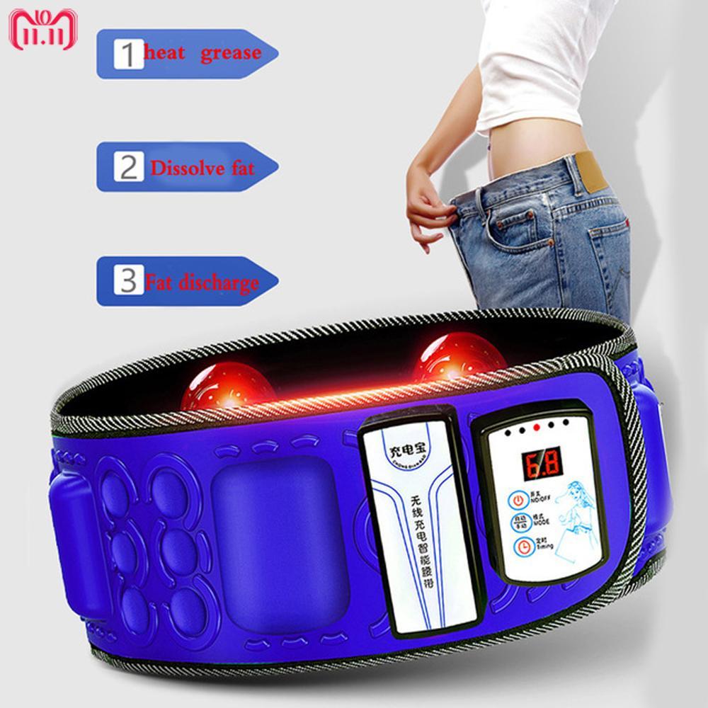 88f48b1d2e6 Electric Infrared Slimming Belt Lose Weight Fitness Massager X5Times  Vibration Abdominal Belly Fat Burn Loss Effective 110 240 V Y181122 Slim  Sauna Belt ...